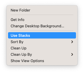 Declutter Desktop on Mac