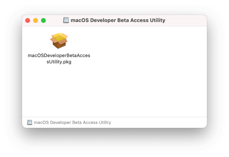 Download macOS Developer Beta Access Utility