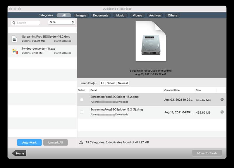 Mac最佳免費重複檔案搜尋器 - Duplicate Files Fixer