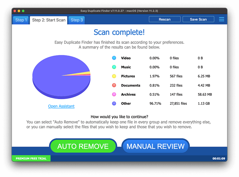 Mac最佳免費重複檔案搜尋器 - Easy Duplicate Finder