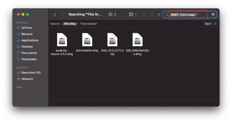 Find and Delete DMG Files on Mac