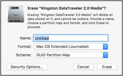 Format External Drive