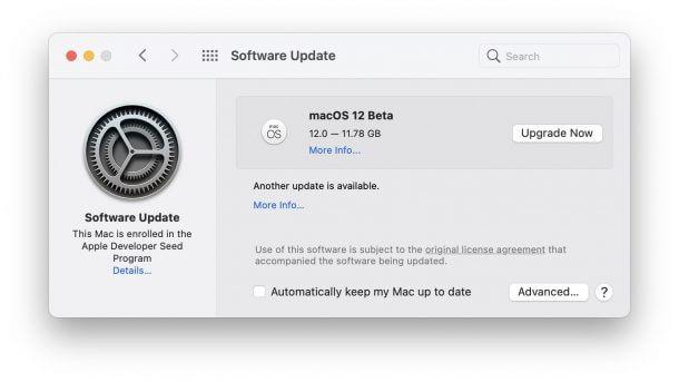 Download macOS 12 Beta