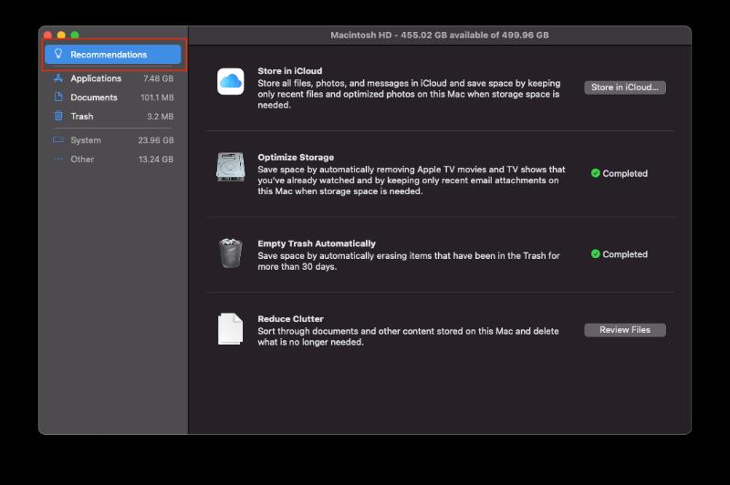 Optimize Storage