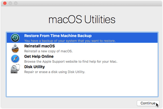 Downgrade macOS with Time Machine Backup