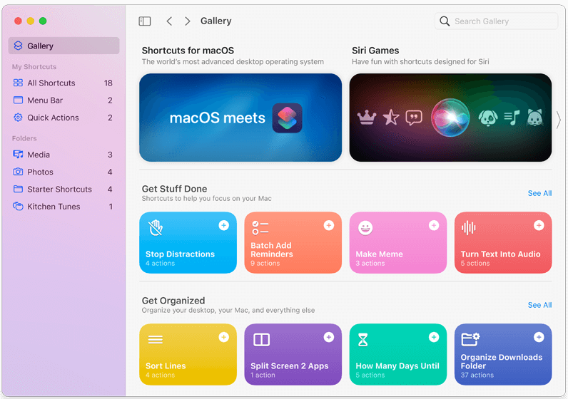 macOS Monterey Feature - Shortcuts on Mac