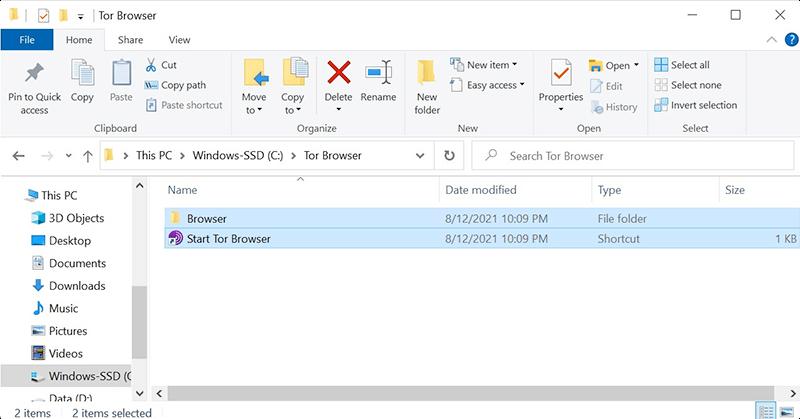 Uninstall Tor Browser on Windows 10